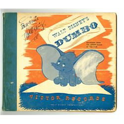 Walt Disney Signed Victor Records Album Cover.
