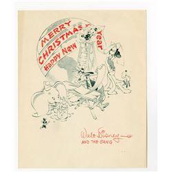 Disney Studio Christmas Card for 1941.