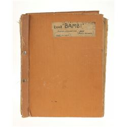 "Conductor's Score for ""Bambi""."