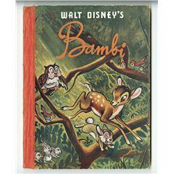"""Walt Disney's Bambi"" Hardcover Book."