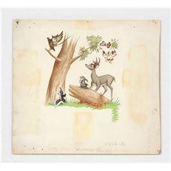 """Original Art for """"Bambi"""" Little Golden Book."""