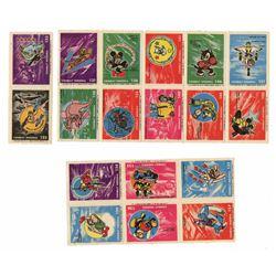 Set of (18) Combat Insignia Stamps.