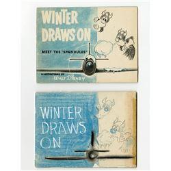 Original Disney Mock-Up Book for a Wartime Publication.