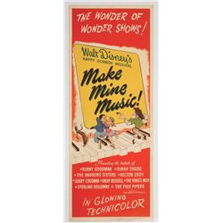 """Make Mine Music"" Original Release Insert Poster."