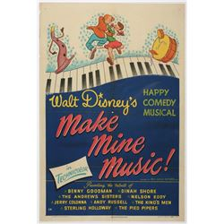 """Make Mine Music"" Original Release One Sheet Poster."