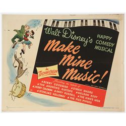 """Make Mine Music Movie"" Original Release  Half Sheet Poster."