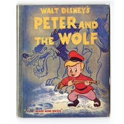 "Walt Disney's ""Peter And The Wolf"" Hardcover Book."