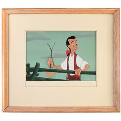 "Original Production Cel and Production Background from ""Johnny Appleseed""."