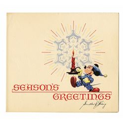Signed Disney Studio Christmas Card for 1948.