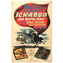 """The Adventures of Ichabod and Mr. Toad"" Original Release Movie Poster."