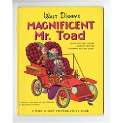 """Walt Disney's Magnificent Mr. Toad"" Hardcover Book."