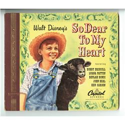 "Walt Disney Signed Soundtrack album for ""So Dear to My Heart""."