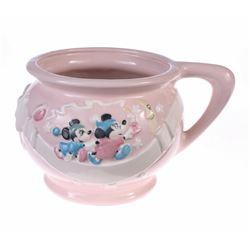 Pink Ceramic Chamber Pot.