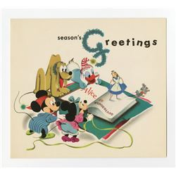Disney Studio Christmas Card for 1950.