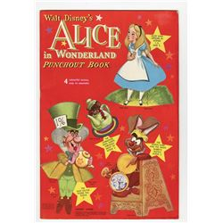 """Alice in Wonderland Punchout Book""."