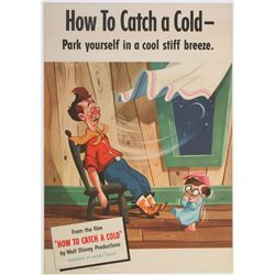 "Set of (5)  Publicity Posters for  ""How to Catch a Cold""."