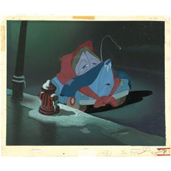 "Original Production Cel and Matching Background from ""Susie the Little Blue Coupe""."