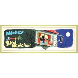 """""""Mickey the Bird Watcher"""" Original Book Art."""