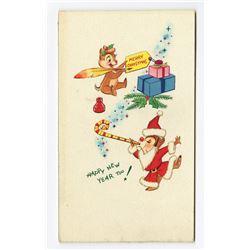 Bill Justice Original Christmas Card Art.