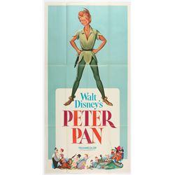 """Peter Pan"" Original Release Three Sheet Movie Poster."