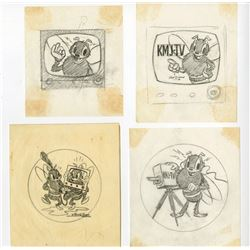 Original Mascot Design for KMJ-TV.