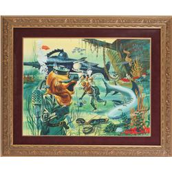 """Incredible"""" 20,000 Leagues Under The Sea"""" Original Painting."""