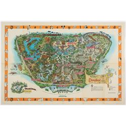 Rare 1958b Version of Sam McKim Designed Disneyland Map.