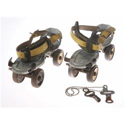 Vintage Mickey Mouse Mouseketeer Roller Skates.