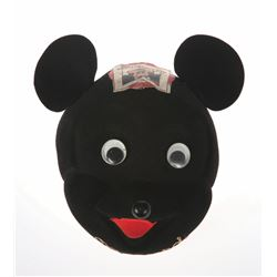 Rare Mickey Mouse Club Black Felt Mask.