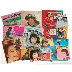 Collection of (45) Annette Funicello Records.
