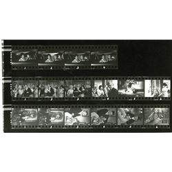 "Collection of (2) Black and White Photo Contact Sheets from ""The Monkey's Uncle""."