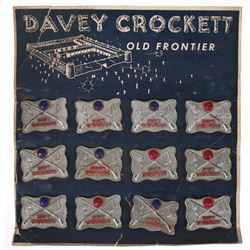 Davy Crockett Metal Pins with Display.