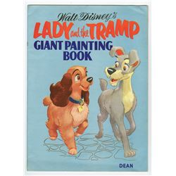 """ Lady and the Tramp Giant Painting Book""."