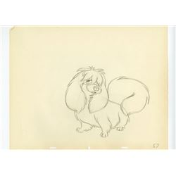 "Original Production Drawing from ""Lady and The Tramp""."