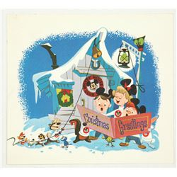 Disney Studio Christmas Card for 1955.