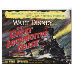 "Set of (9) Lobby Cards from ""The Great Locomotive Chase""."