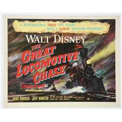 """The Great Locomotive Chase"" Original Release Half Sheet Poster."