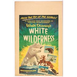 """White Wilderness"" Original Release Window Card."