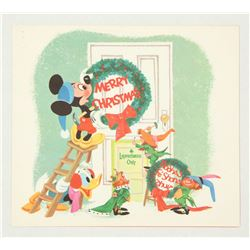 Disney Studio Christmas Card for 1958.