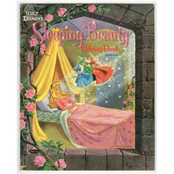 """Sleeping Beauty Coloring Book""."