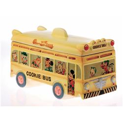 Ceramic School Bus Cookie Jar.