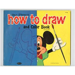 """Walt Disney's How to Draw and Color Book""."