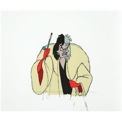 "Original Production Cel From ""101 Dalmations""."