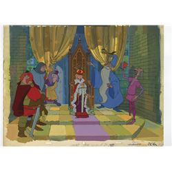 "Original Cel and Production Background from ""The Sword In The Stone""."