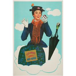 """Rare Oversize""""Mary Poppins"""" Poster."""