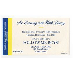 "Rare Ticket to ""An Evening with Walt Disney"""