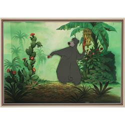 "Original Production Cel and Production Background from ""The Jungle Book"""