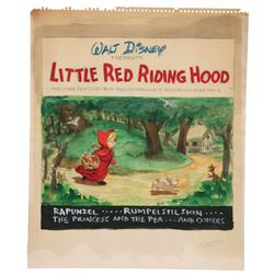 """Little Red Riding Hood"" Preliminary Art for a Disney Record Album Cover."