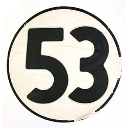 "Number ""53"" Screen-Used Prop from ""The Love Bug""."