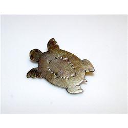 Vintage Old Pawn Native American Navajo Sterling Silver Turtle Brooch